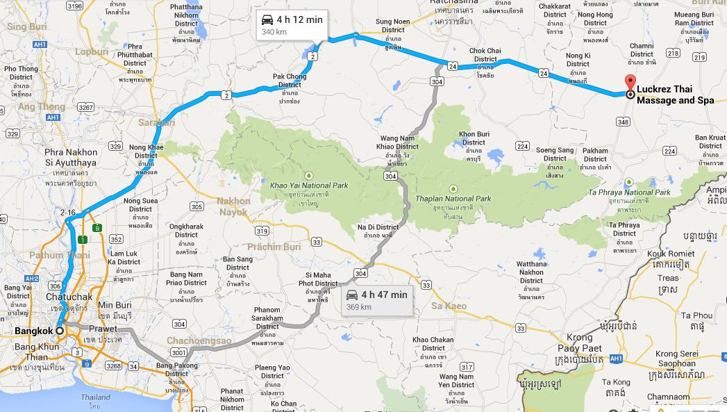 Bangkok to Luckrez Spa & Thai Massage